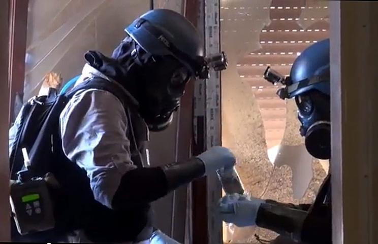 Работа экспертов ООН по химическому оружию в Сирии