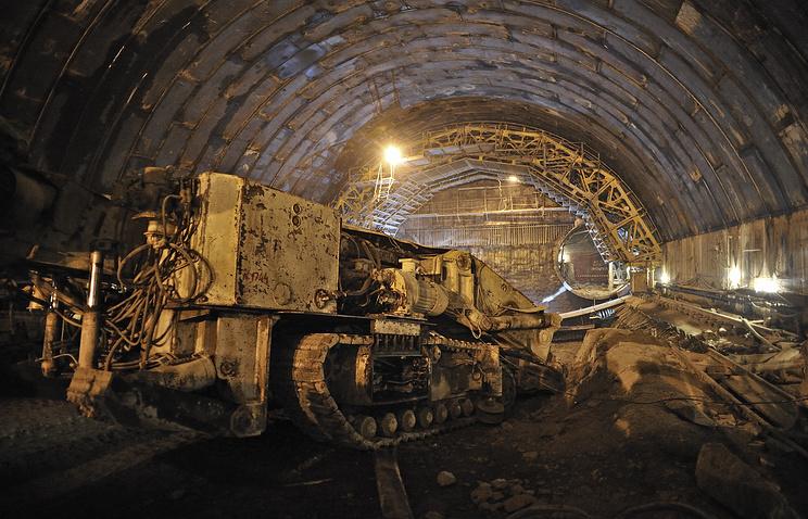 Строительство станции метро в Екатеринбурге