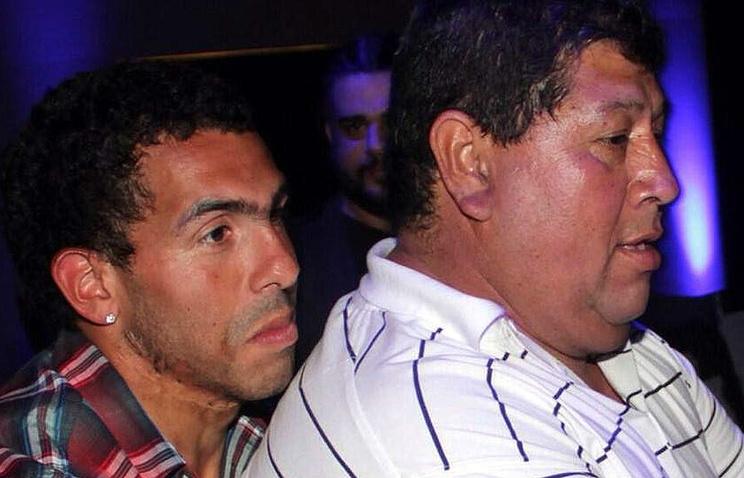 Карлос Тевес со своим отцом Сегундо