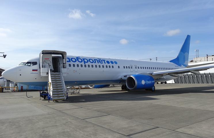 """Самолет низкобюджетной авиакомпании """"Добролет"""", вынужденной приостановить деятельность ввиду санкций ЕС и США."""