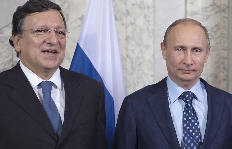 Жозе Баррозу и Владимир Путин