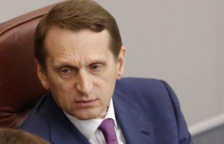 Спикера Госдумы Сергей Нарышкин