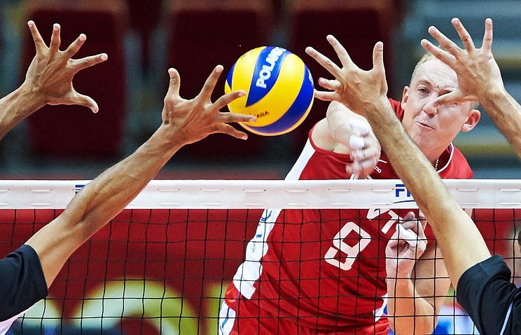 Волейболист сборной России Алексей Спиридонов