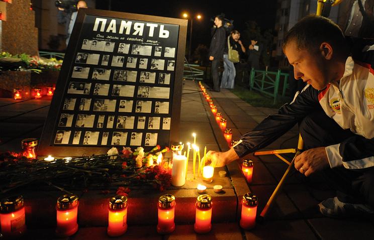 Панихида по жертвам теракта на улице Гурьянова