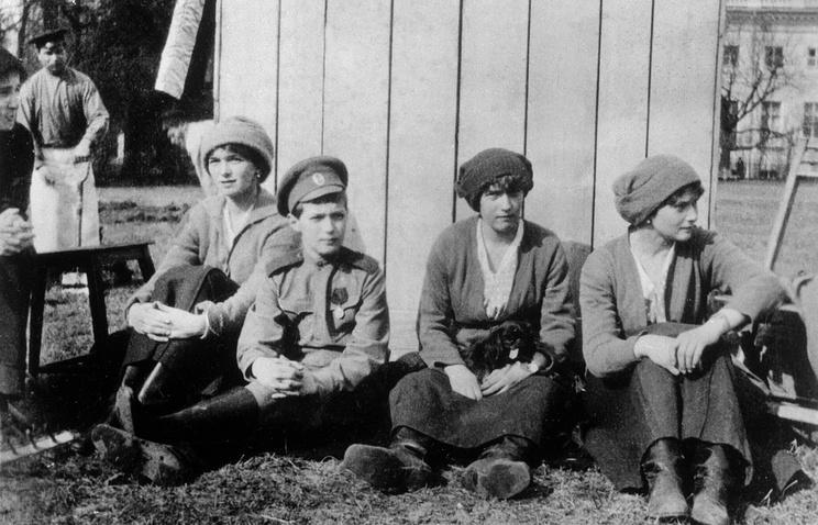 Дети императора Николая II, 1917 г.