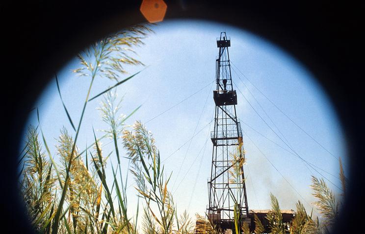 Буровая установка на одном из месторождений природного газа
