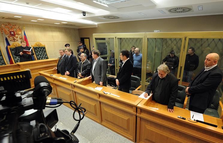 Оглашение приговора участникам банды Цапка в Краснодарском краевом суде