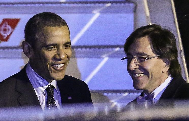 Президент США Барак Обама и премьер-министр Бельгии Элио Ди Рупо