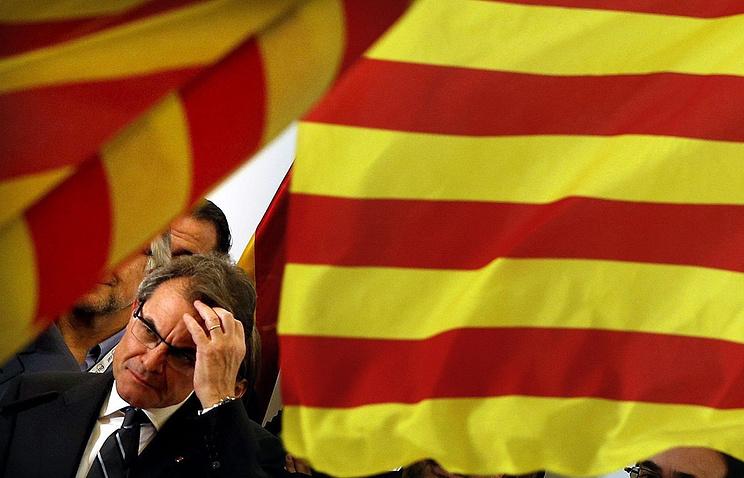 Председатель каталонского правительства Артур Мас