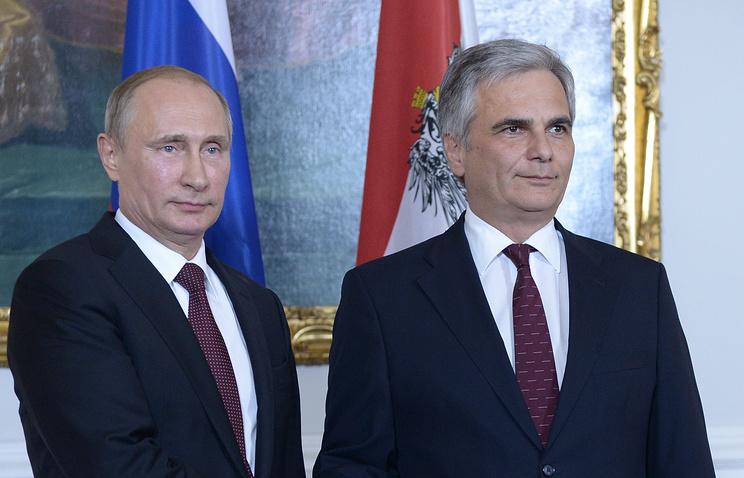 Владимир Путин и Вернер Файман (слева направо)
