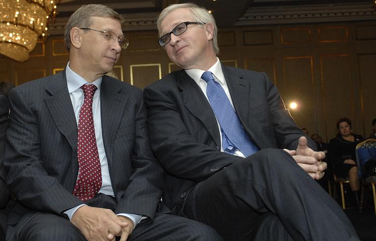 Владимир Евтушенков и Александр Шохин (слева направо)