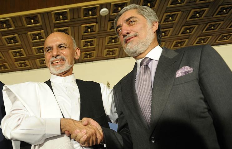 Ашраф Гани Ахмадзай и Абдулла Абдулла