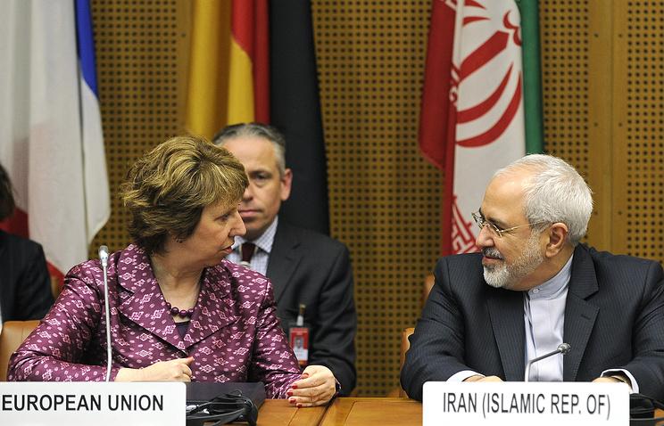 Верховный представитель Евросоюза по внешним делам и политике безопасности Кэтрин Эштон и министр иностранных дел Ирана Джавад Зариф