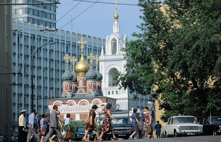 Храмы Зарядья, архивное фото, 1980 год