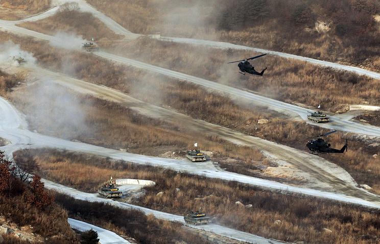 Военные учения вооруженных сил Южной Кореи