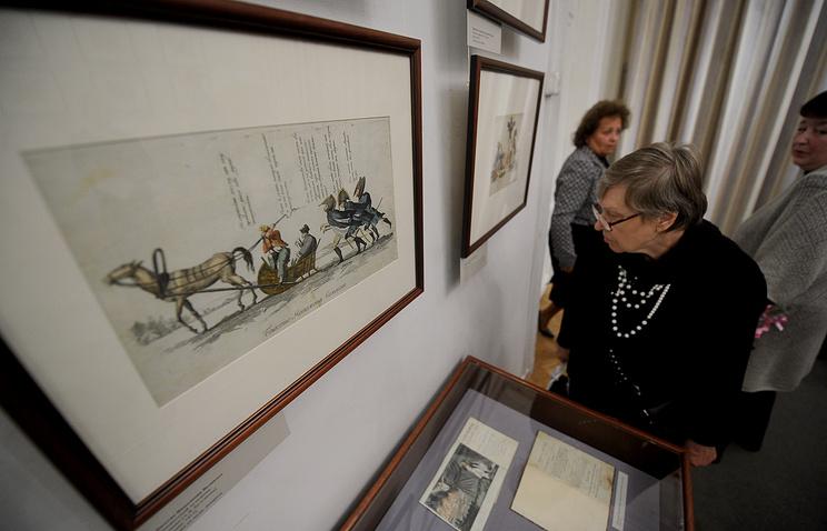 На выставке в Государственном Литературном музее