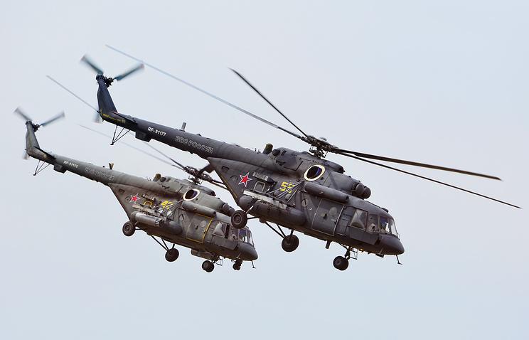 Вертолеты Ми-8АМТШ. Архив