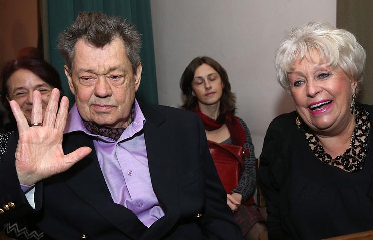 Николай Караченцов с супругой Людмилой на праздновании 70-летия Школы-студии МХАТ. 2013 год
