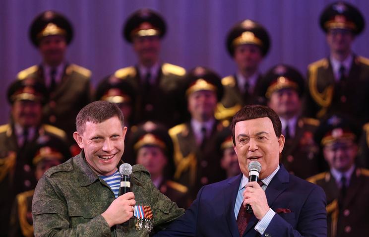 Премьер-министр ДНР Александр Захарченко и певец Иосиф Кобзон