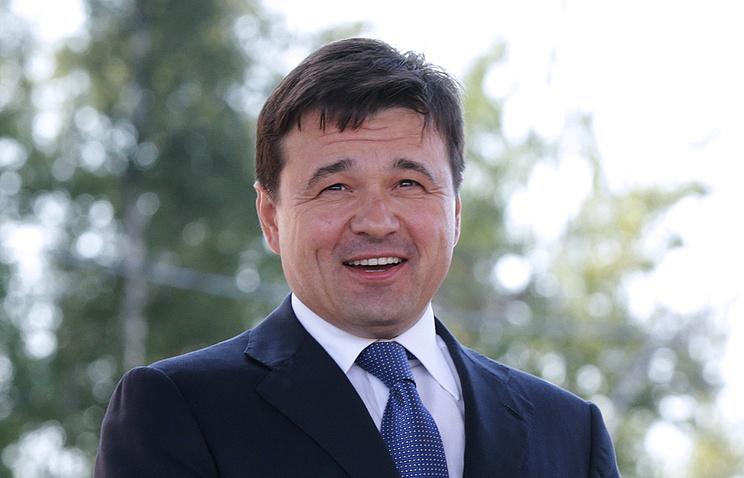 Губернатор Московской области Андрей Воробьев во время церемонии начала строительства ЦКАД.
