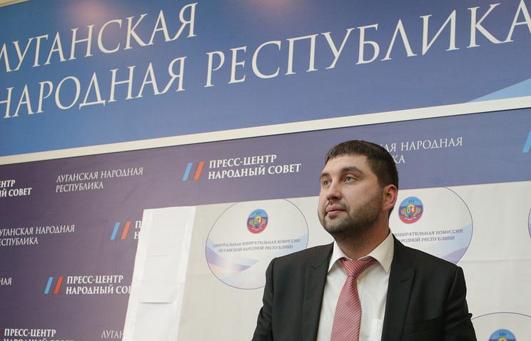 Глава Центризбиркома ЛНР Сергей Козьяков во время пресс-конференции по итогам выборов