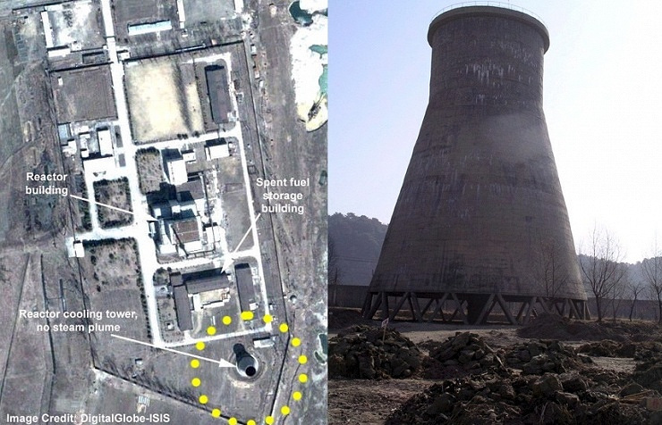 Спутниковый снимок ядерного центра в Йонбене