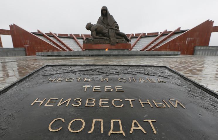 """Монумент """"Скорбь"""", посвященный памяти воинов, павших за Отечество, на территории федерального военного мемориального кладбища в Мытищинском районе"""