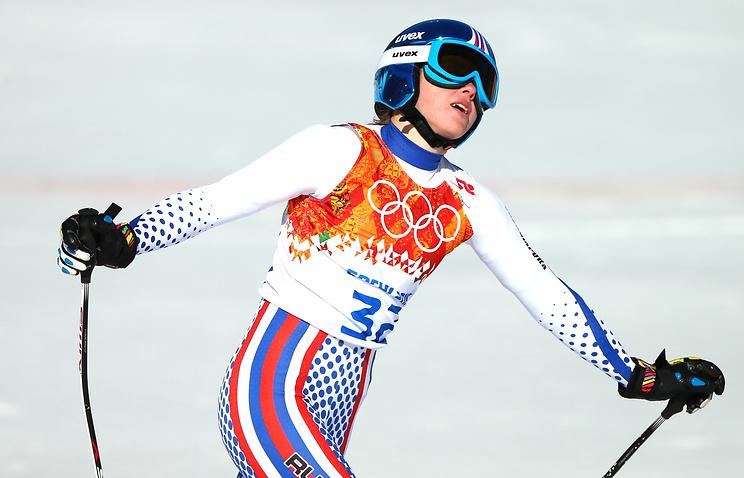 Елена Яковишина на Олимпиаде в Сочи