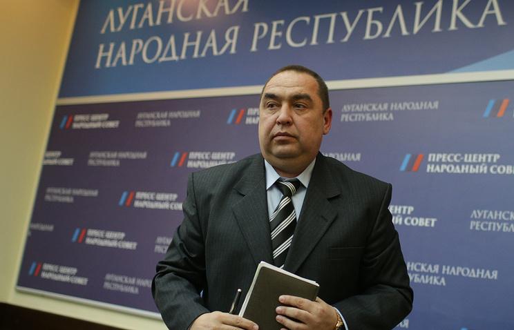 Глава провозглашенной Луганской народной республики Игорь Плотницкий
