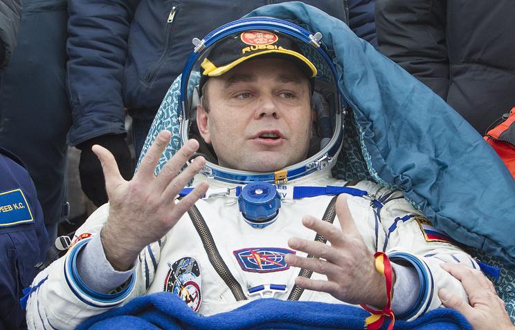 Максим Сураев после возвращения на Землю. Ноябрь 2014 года
