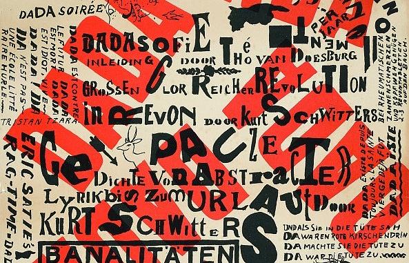 Плакат с объявлением вечера дадаистов. Тео ван Дусбург. 1922 год