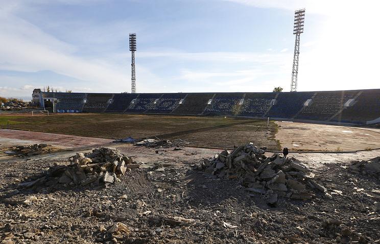 Демонтаж Центрального стадиона перед началом строительства спортивной арены к ЧМ-2018