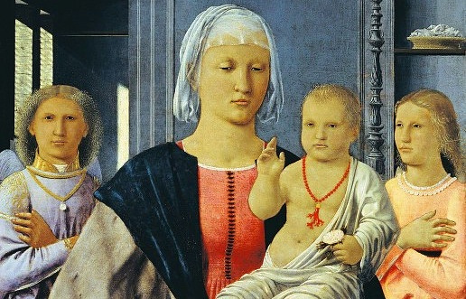 """Пьеро делла Франческа. """"Мадонна Сенигаллия"""", холст, масло, 31х28см"""