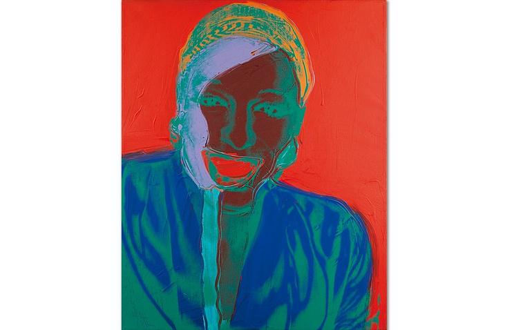 """Картина Энди Уорхола портрет """"Вильгемины Росс"""""""