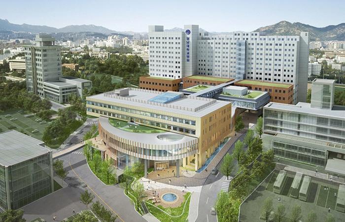Одно из зданий университета Ённам в Южной Корее