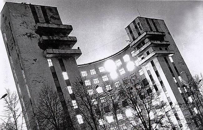 "Гостиница ""Исеть"", вид со двора"