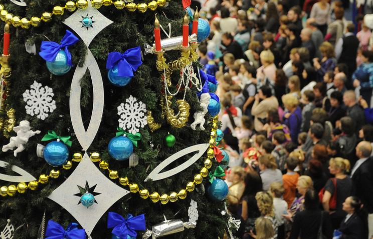 На новогоднем праздничном представлении в Государственном Кремлевском дворце
