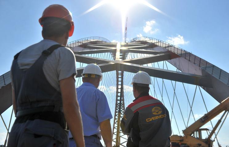 Строительство третьего моста через Обь в Новосибирске