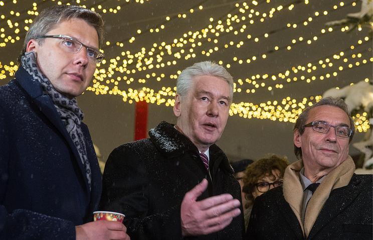Мэр Риги Нил Ушаков, мэр Москвы Сергей Собянин и мэр Страсбурга Роланд Рис