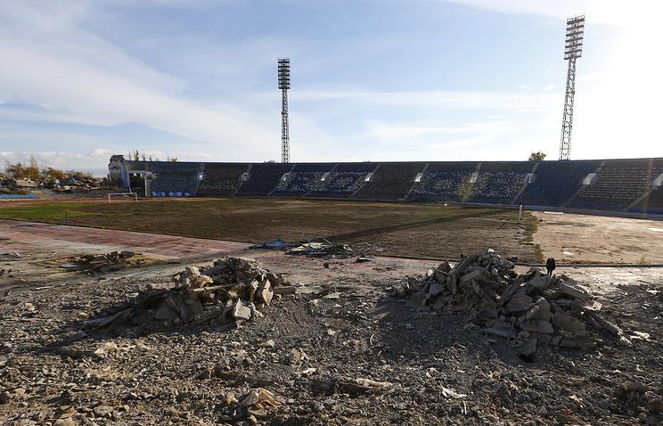 Демонтаж Центрального стадиона перед началом строительства спортивной арены к чемпионату мира по футболу 2018