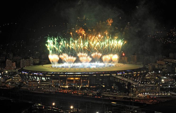 Фейерверк после финального матча чемпионата мира 2014 года