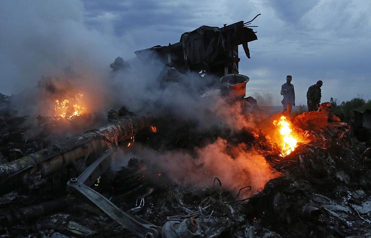 На месте падения самолета. Июль 2014 года
