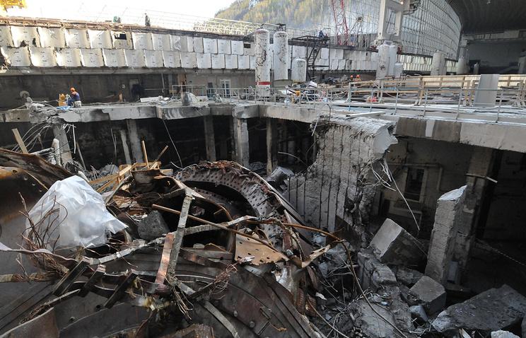 Саяно-Шушенская ГЭС после аварии