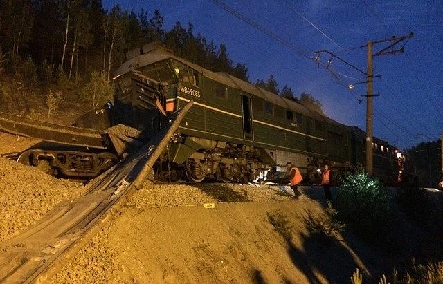 Фото с места столкновения поездов. 5 июня 2014 года