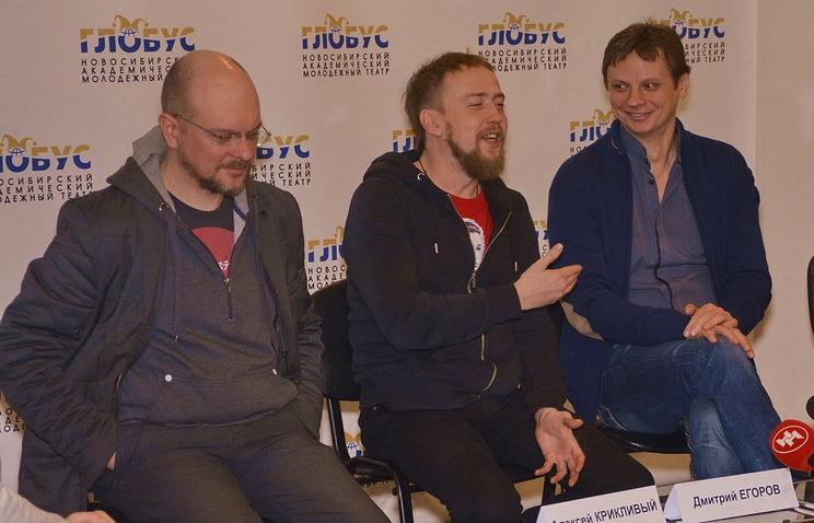 Алексей Крикливый, Дмитрий Егоров и Павел Южаков (слева направо)