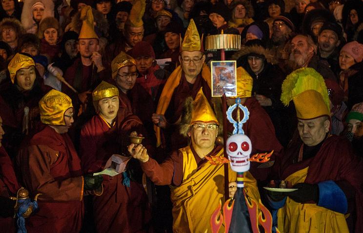Встреча буддистского Нового года. Архив