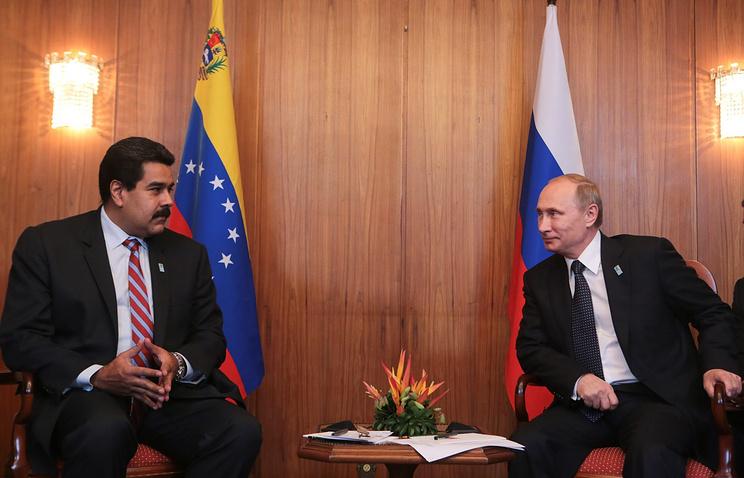 Николас Мадуро и Владимир Путин, архивное фото