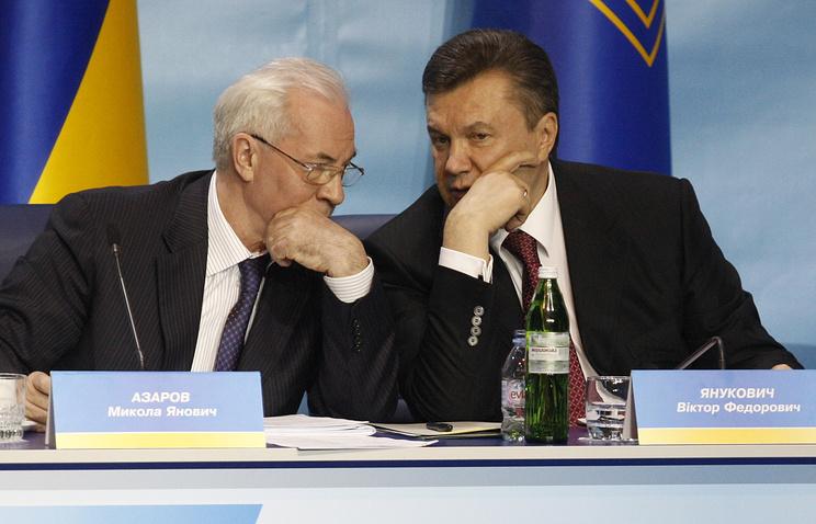 Премьер-министр Николай Азаров и президент Украины Виктор Янукович