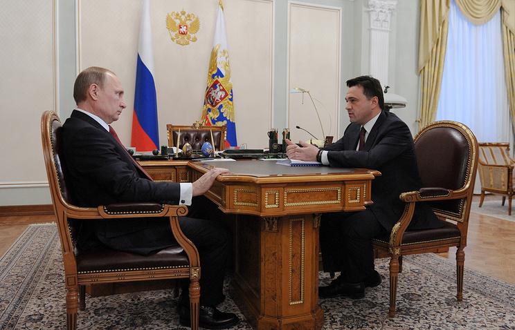Президент РФ Владимир Путин и глава Подмосковья Андрей Воробьев