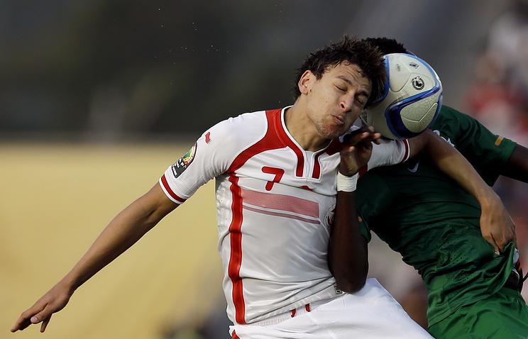 Эпизод из матча Тунис - Замбия
